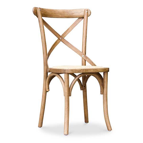 Chaise en bois bistrot crossback Napoli