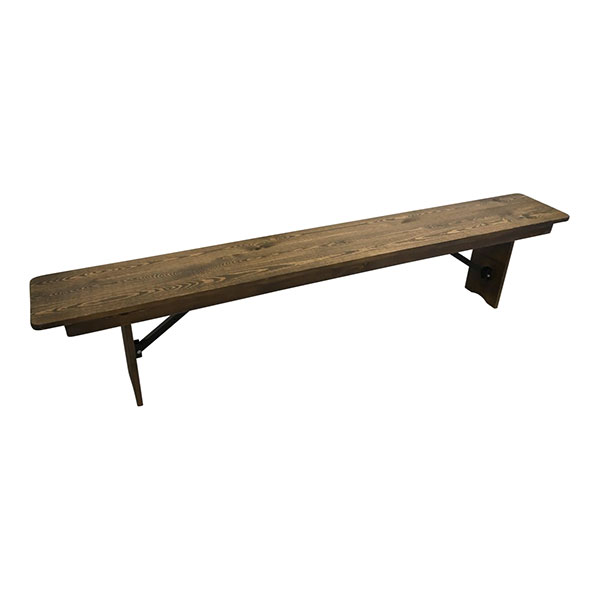 Banc en bois champêtre chi