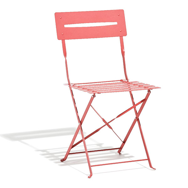 Chaise de jardin pliante fer