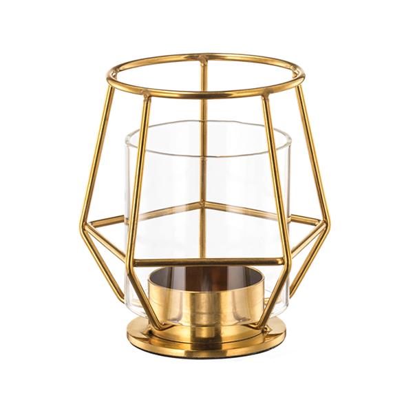 Lampe photophore dorée