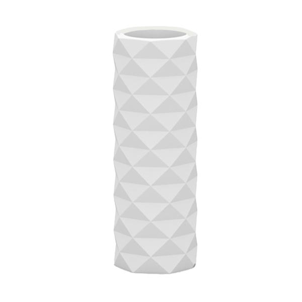 Grand pot blanc à facettes design