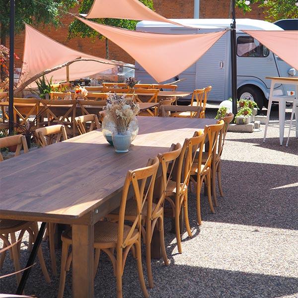 table Athènes et chaises Napoli
