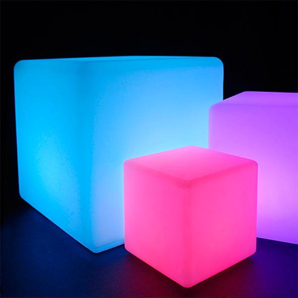 Cube design lumineux