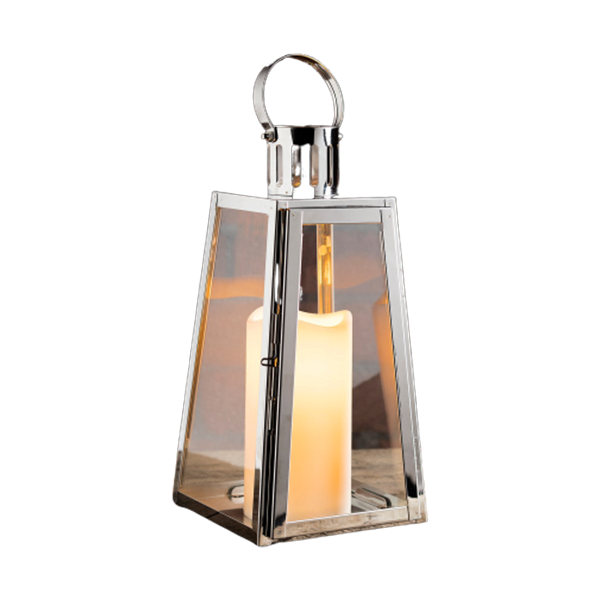 Lanterne trapèze en inox