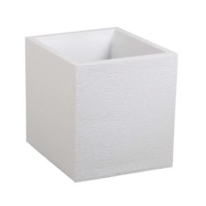 Cache pot carré blanc