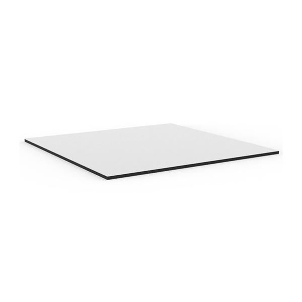 Table design avec plateau interchangeable