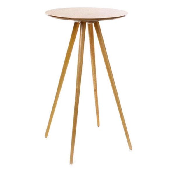 Table haute mange-debout bois scandinave