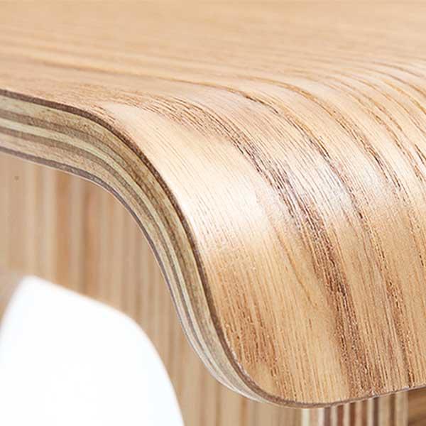 Tabouret haut en bois style scandinave-Oslo