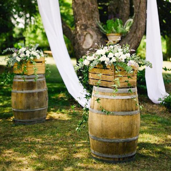 Tonneau de vin pour deco mariage