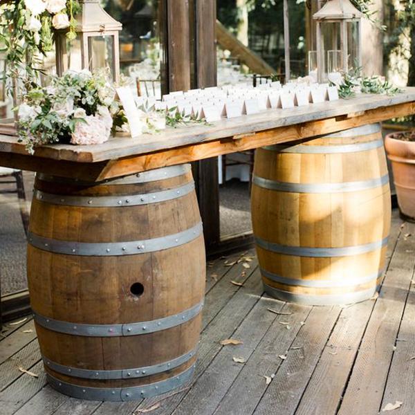 Tonneau double table pour mariage