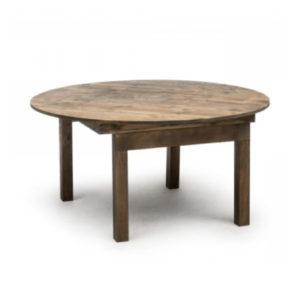 Table ronde chic et champêtre - Comptoir du Mobilier
